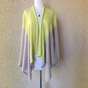 Magaschoni NY Small Open Cardigan Two Tone